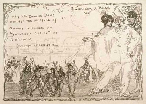 An image of Invitation-card for Mr and Mrs Edmund Davies by Charles Conder