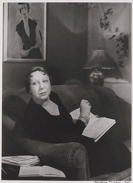 An image of The writer, Jean Campbell in her East Melbourne flat by Wolfgang Sievers