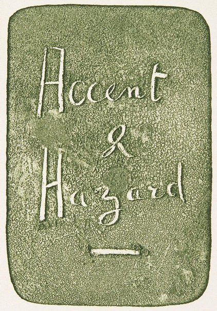 An image of Full-title for 'Accent and Hazard' by David Strachan