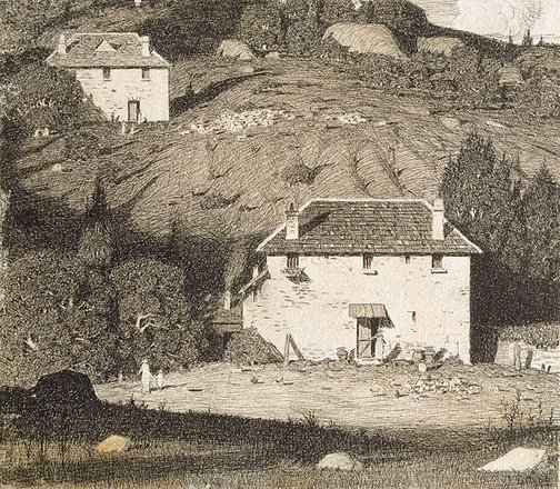 An image of House in the Valley I by Lloyd Rees