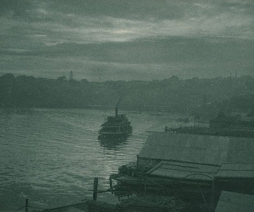 An image of Ferryboat, early morning by Harold Cazneaux