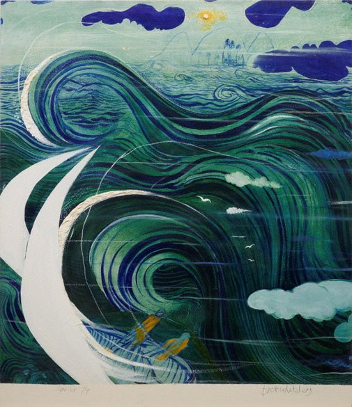 An image of Stanner's dream by Brett Whiteley