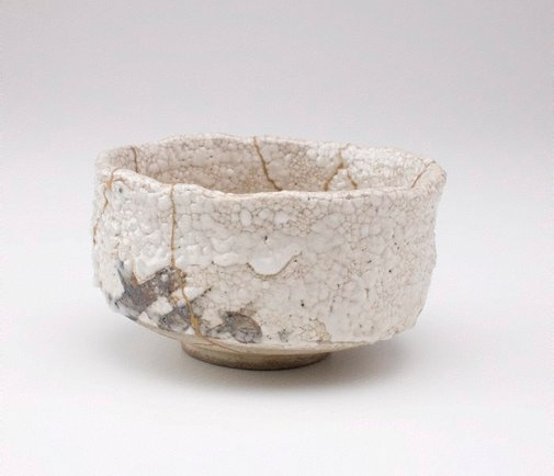 An image of Tea bowl by Shino ware