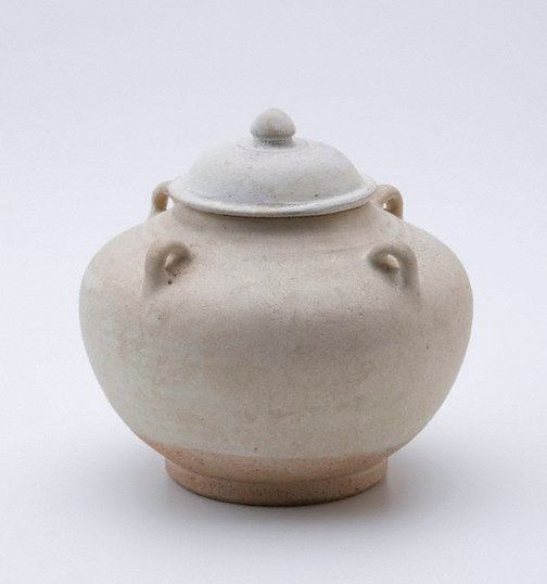 An image of Jar with cover by Sawankhalok ware