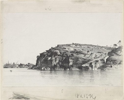 An image of Ball's Head, Sydney Harbour by Lloyd Rees