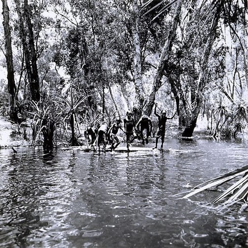 An image of Children playing in river, Mumeka by Mervyn Bishop