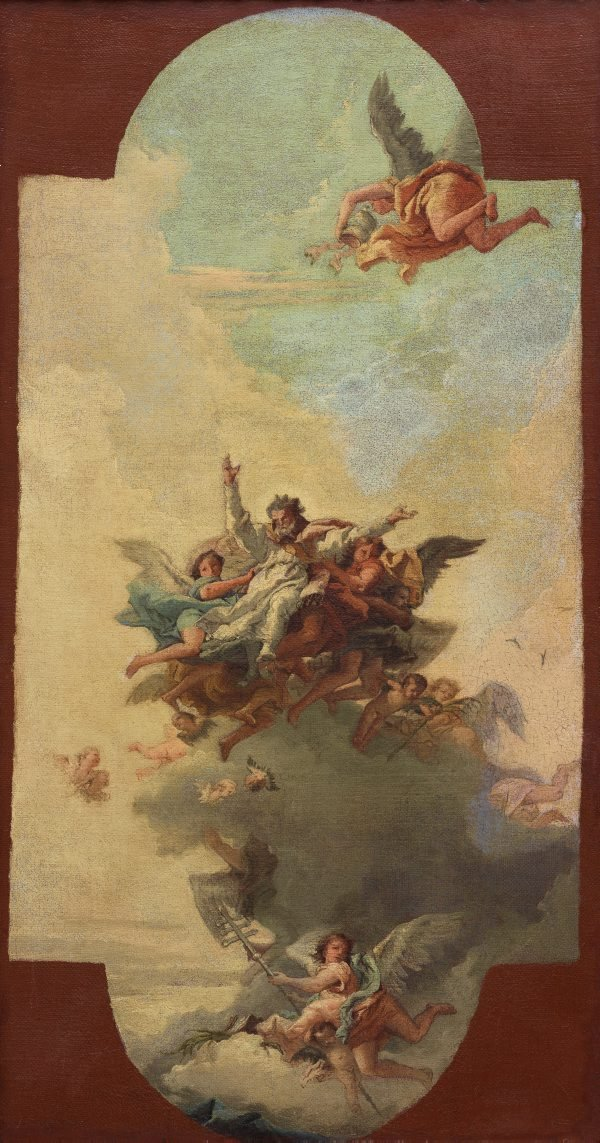 An image of The apotheosis of a pope and martyr