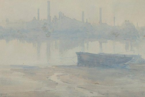 An image of Morning mist on the Thames by Arthur Streeton