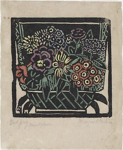 An image of Pansy by Margaret Preston