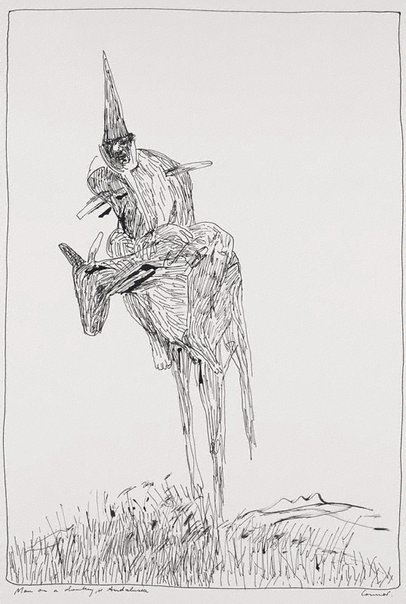 An image of Man on a donkey by Kevin Connor