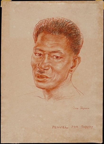 An image of Penuel - a head study of a Solomon Islander by Nora Heysen
