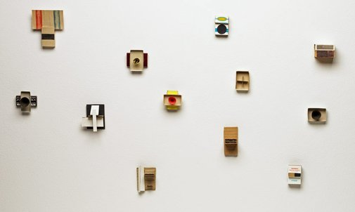 An image of Matchbox constructions by Eugene Carchesio