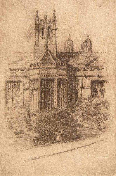 An image of Old Medical School, University of Sydney by Lloyd Rees