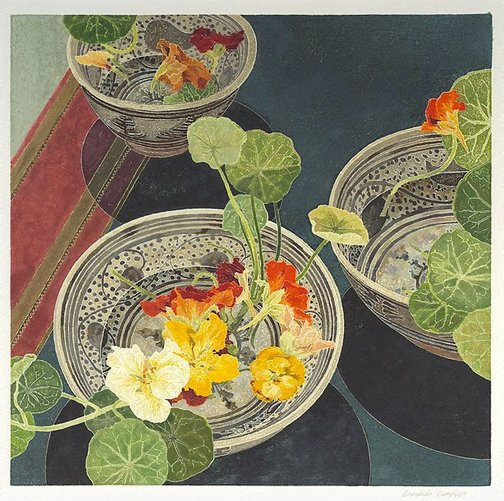 An image of Nasturtiums by Cressida Campbell