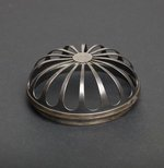 Alternate image of Incense burner with design of chrysanthemum and open work silver lid by