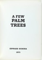 An image of A few palm trees by Edward Ruscha