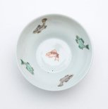 Alternate image of Wine cup decorated with five carp on the interior and four on the exterior by Jingdezhen ware