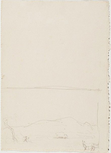 An image of Study for the etching 'Macdonnell Ranges, Central Australia I' and 'Macdonnell Ranges, Central Australia II' by Lloyd Rees