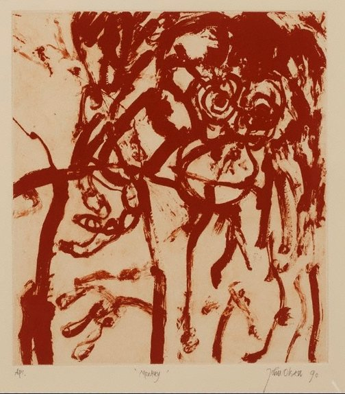 An image of Monkey by John Olsen