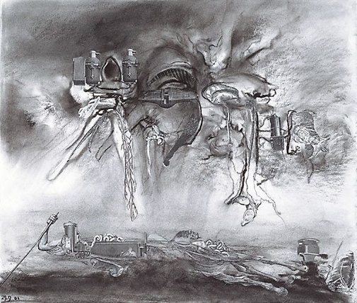 An image of Study for 'Ikons of hazard' by James Gleeson