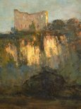 Alternate image of Chepstow Castle by Arthur Streeton