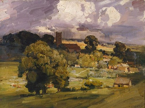 An image of Carisbrooke by Arthur Streeton