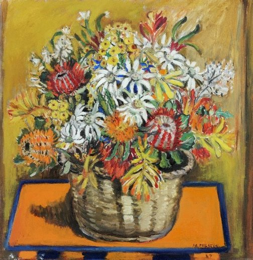 An image of (Still life with national flowers) by Margaret Preston
