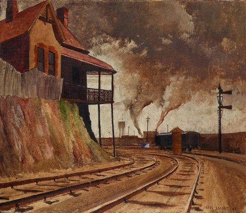 An image of Keswick siding by Jeffrey Smart