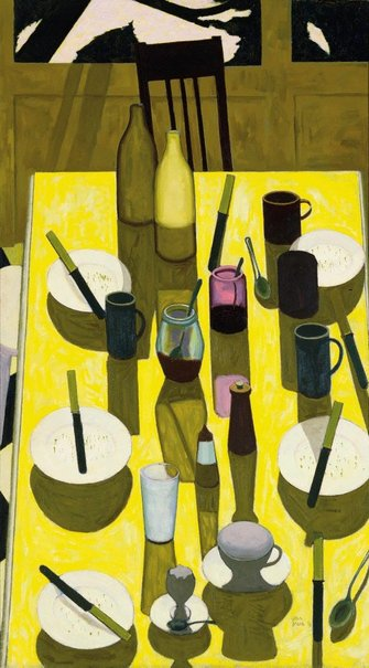 An image of The breakfast table by John Brack