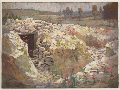 An image of Old trench, French battlefield by Evelyn Chapman