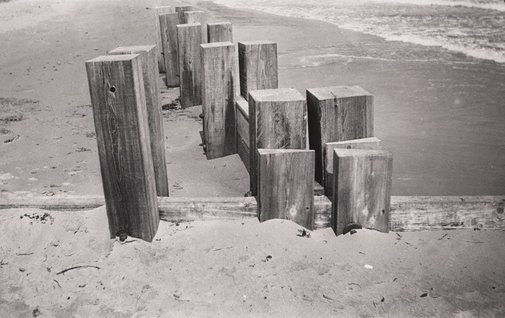 An image of Breakwater, Dymchurch, Kent by Paul Nash