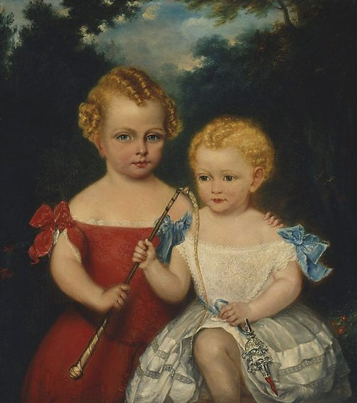 An image of The Russell-Jones children by Richard Noble