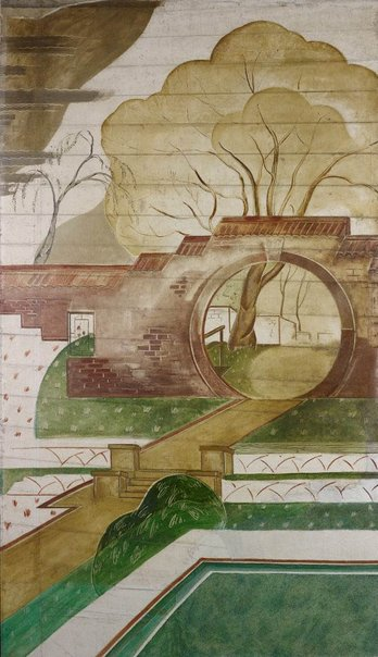 An image of Moon Gate Garden by Roy de Maistre