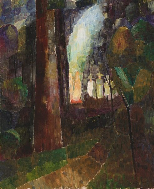 An image of Bonfire in the bush by Grace Cossington Smith