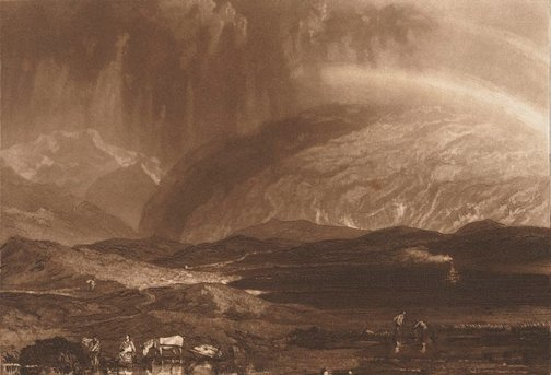 An image of Peat bog, Scotland by Joseph Mallord William Turner