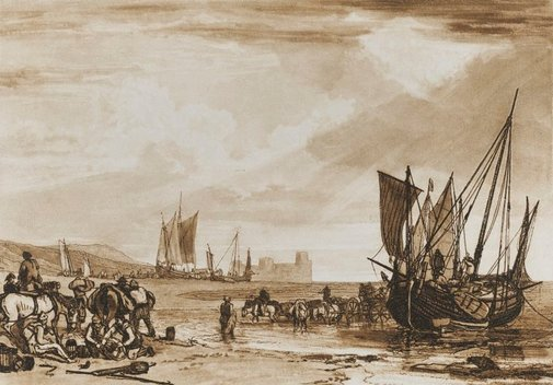 An image of Scene on the French coast by Joseph Mallord William Turner
