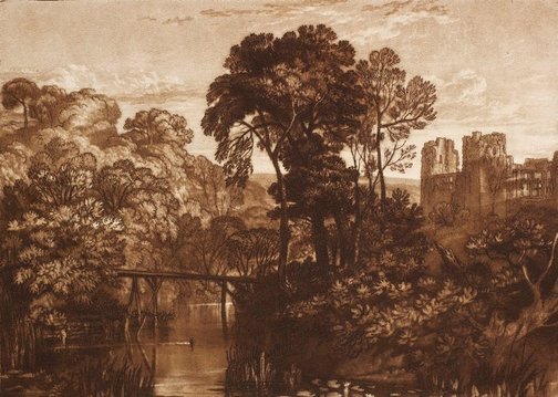 An image of Berry Pomeroy Castle by Joseph Mallord William Turner