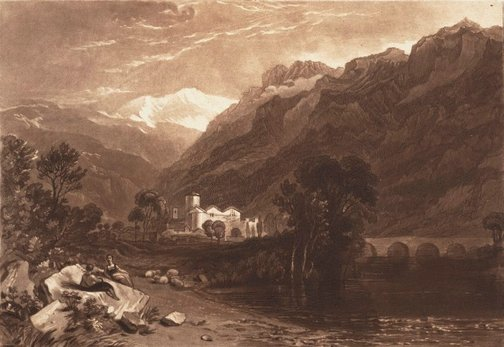 An image of Bonneville, Savoy by Joseph Mallord William Turner