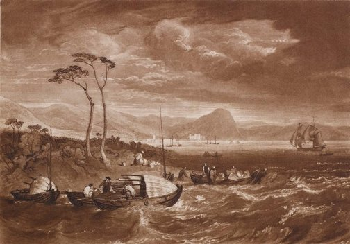 An image of Inverary Castle and town, Scotland by Joseph Mallord William Turner