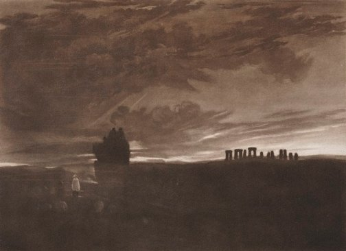 An image of Stonehenge at Daybreak by Joseph Mallord William Turner