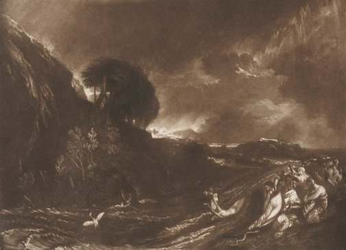 An image of The Deluge by Joseph Mallord William Turner