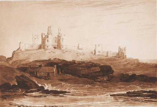 An image of Dunstanborough Castle by Joseph Mallord William Turner