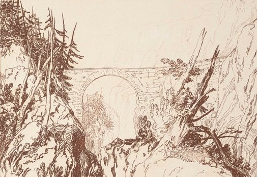 An image of Little Devil's Bridge by Joseph Mallord William Turner
