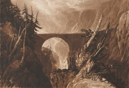 An image of Little Devil's Bridge by Joseph Mallord William Turner, Charles Turner