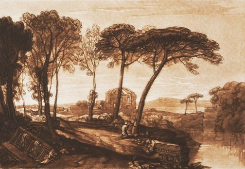An image of The temple of Minerva Medica by Joseph Mallord William Turner
