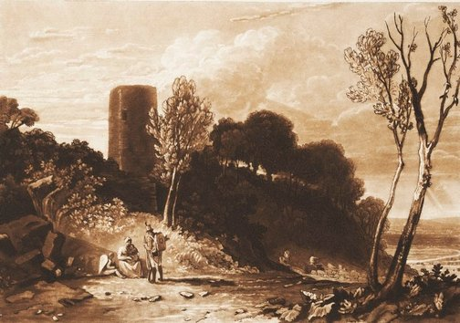 An image of Winchelsea, Sussex by Joseph Mallord William Turner