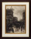 Alternate image of Wet evening, George Street, Sydney by A Henry Fullwood