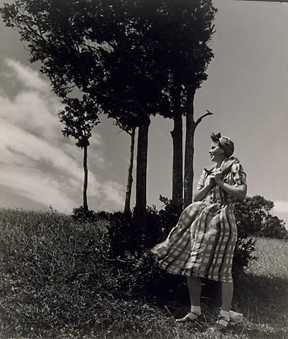 An image of Bunty by trees by William Buckle