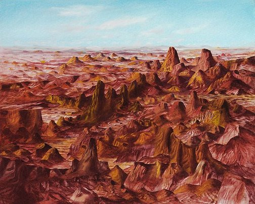 An image of Central Australia by Sidney Nolan