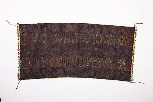 An image of Breast cover (akhin) with bead trim by